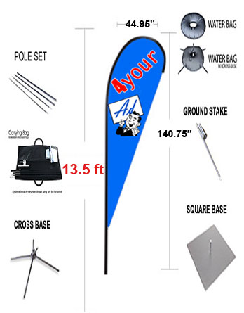 TEARDROP-FLAG-X-Large-180-one-side-only