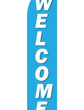 Blue-Welcome-Econo-Stock-Flag