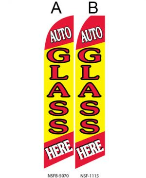 Flags Auto Glass Here A,B Flags For Sale