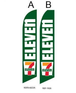 Business flags 7 Eleven