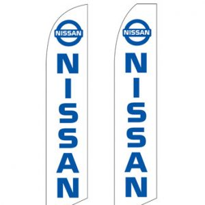 Car Dealerships Flags (Nissan White) Flags Online Store