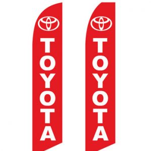 Car Dealerships Flags (Toyota Red) Flags Online Store