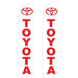 Car Dealerships Flags (Toyota White) Flags Online Store