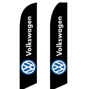 Car Dealerships Flags (Volkswagen Black) Flags Online Store