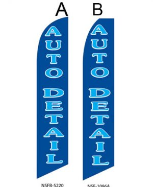 Car Wash Flags Auto Detail (Blue/Cyan) Flags Online Store