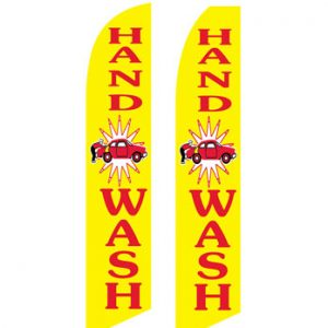 Car Wash Flags (Hand Wash Yellow) Flags Online Store