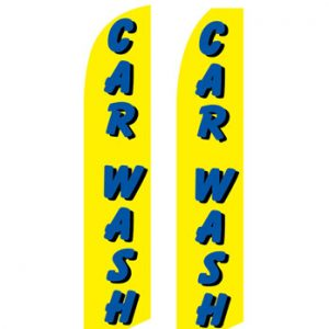 Car Wash Flags (Car Yellow-Blue) Flags Online Store
