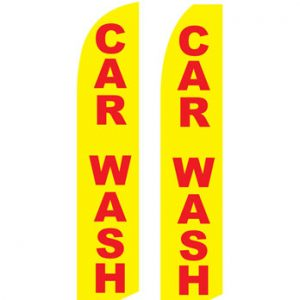Car Wash Flags (Car Wash Yellow-Red) Flags Online Store