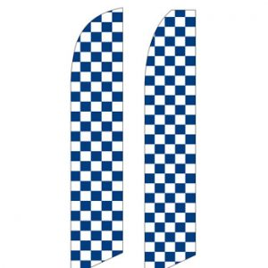 Checkered Flag (Blue and White Checkered)