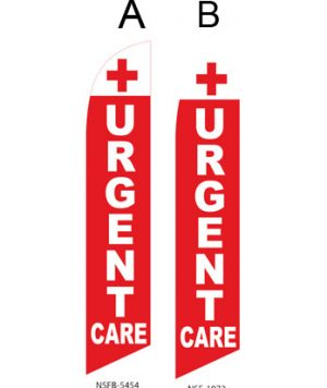Flags For Sale Events Flags (Urgent Care Red-White)