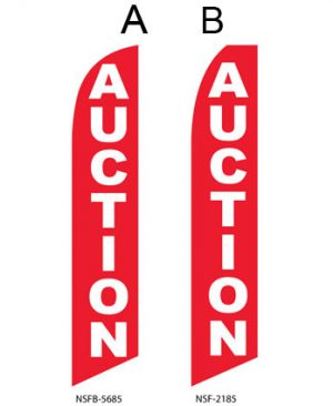 Insurance Flags (Auction Red) Real Estate Flags