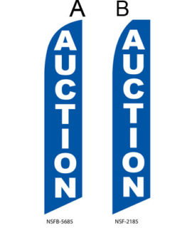 Insurance Flags (Auction Blue) Real Estate Flags