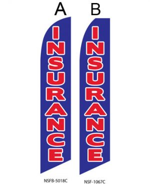 Insurance Flags (Insurance Blue-Red) Real Estate Flags
