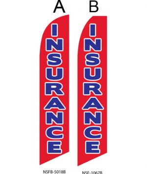 Insurance Flags (Insurance Red-Blue) Real Estate Flags