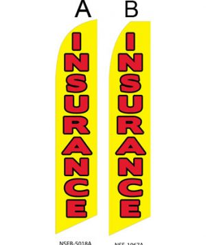 Insurance Flags (Insurance Yellow) Real Estate Flags