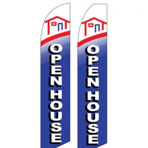 Insurance Flags (Open House Blue) Real Estate Flags