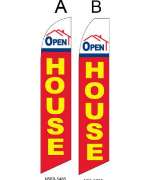 Insurance Flags (Open House Red) Real Estate Flags