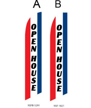 Insurance Flags (Open House Stripes) Real Estate Flags