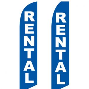 Insurance Flags (Rental Blue) Real Estate Flags