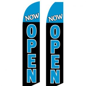 Open Flags For Sale (Now Open Cyan-Black)