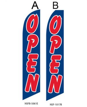 Open Flags For Sale (Open Blue Red)