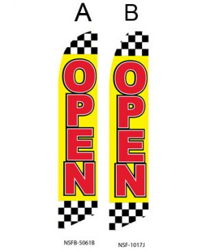 Open Flags For Sale (Open Checkered)