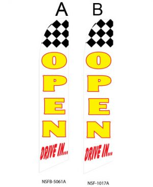 Open Flags For Sale (Open Drive In Checkered)