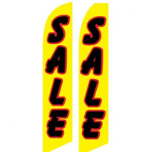 Sale Flags (Sale Black Yellow) Flags For Sale