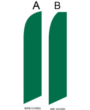 Solid Color Flags (Solid Dark Green)