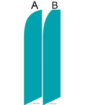 Solid Color Flags (Solid Teal)
