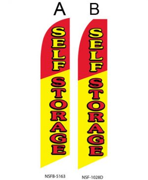 Storage Flags (Self Storage Red-Rellow)