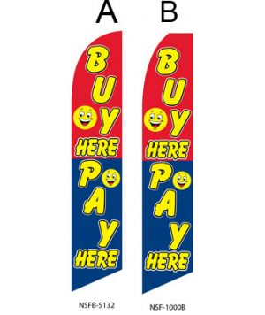 Used Car Dealer Flags (Buy Here Pay Here Smiley)