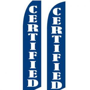 Used Car Dealer Flags (Certified Blue)