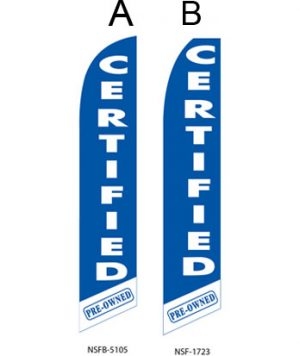 Used Car Dealer Flags (Certified Pre Owned Blue)