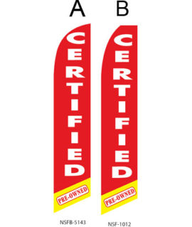 Used Car Dealer Flags (Certified Pre-Owned Red)