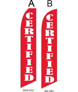 Used Car Dealer Flags (Certified Red)