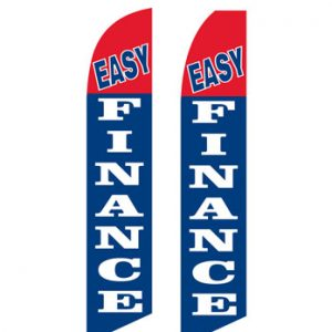 Used Car Dealer Flags (Easy Finance Red Blue)