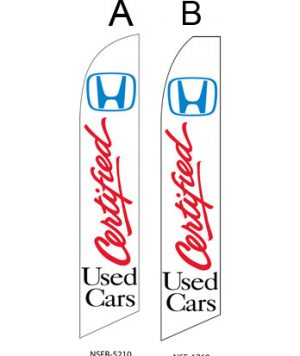 Used Car Dealer Flags (Honda Certified Used Cars)