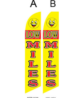 Used Car Dealer Flags (Low Miles)