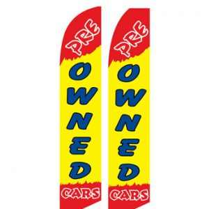 Used Car Dealer Flags (Pre-Owned Cars)