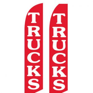 Used Car Dealer Flags (Trucks Red)