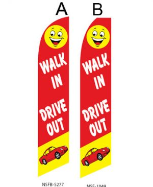 Used Car Dealer Flags (Walk in Drive Out)