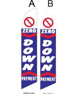 Used Car Dealer Flags (Zero Down Payment)