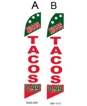 Flag In Spanish (Ricos Tacos .99)