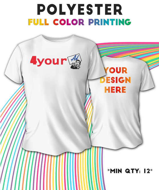 T-Shir Printing Los Angeles Sama Day Full Color Custom Polyester